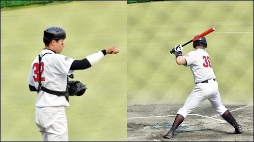 김재환(왼쪽)과 국해성은 미추홀기에서 그간의 부진을 만회했다. 사진은 지난해 청룡기에서 주전으로 출장했던 두 선수. 김재환(왼쪽)과 국해성은 미추홀기에서 그간의 부진을 만회했다. 사진은 지난해 청룡기에서 주전으로 출장했던 두 선수.